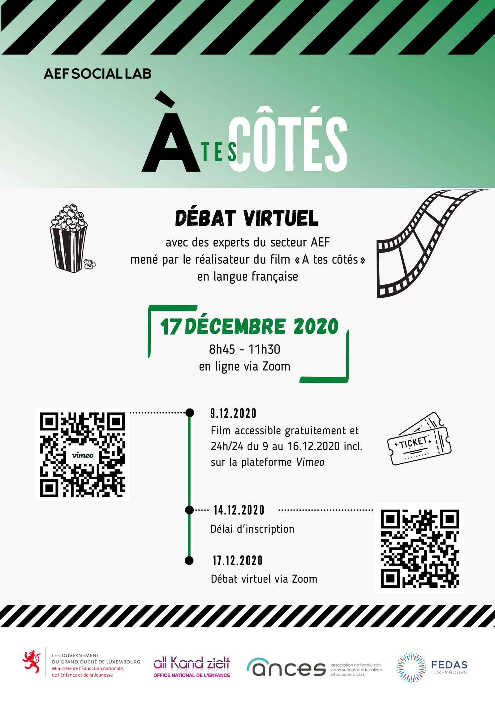 Affiche débat virtuel